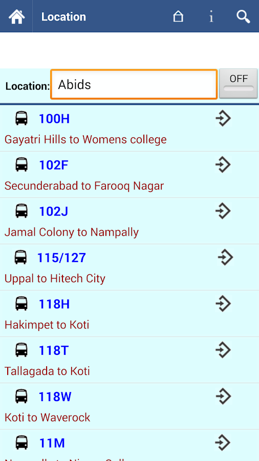 Hyderabad RTC Info  screenshot
