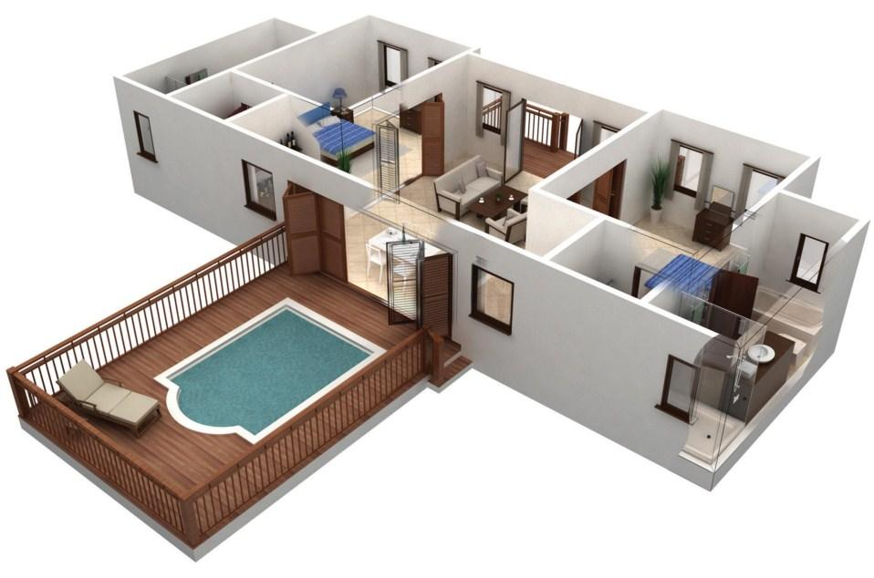 3d house floor plan ideas screenshot - House Building Plans