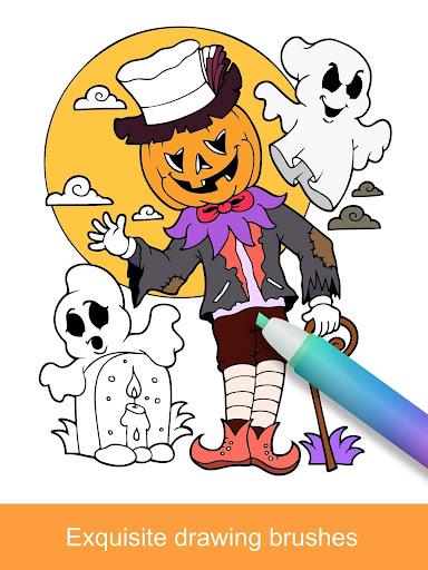 2021 Halloween Coloring Books  screenshots 10