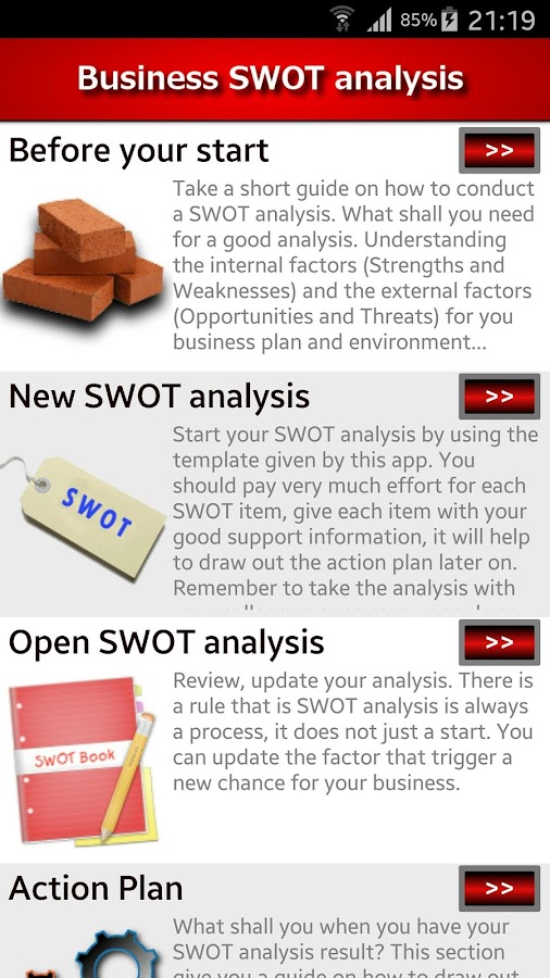 Business Swot Analysis - Android Apps On Google Play