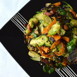 Garlic Ginger Brussels Sprouts.