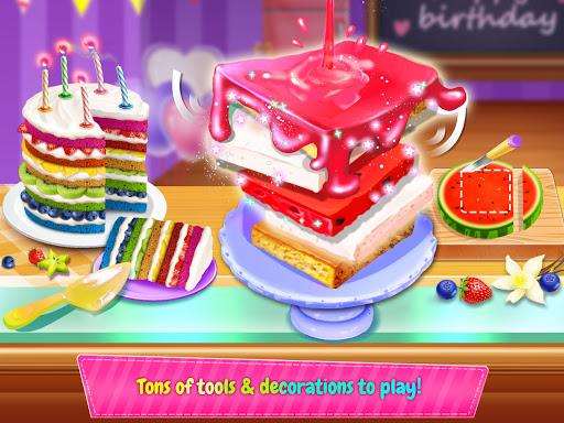 Birthday Cake Design Party - Bake, Decorate & Eat! 1.2 screenshots 2