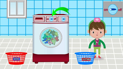 Code Triche Laver et repasser le linge: enfants jeu de lessive APK MOD screenshots 4