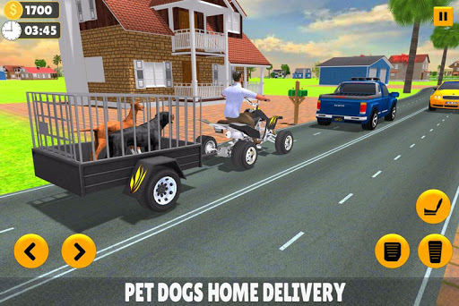 Pet Dog ATV Trolley Cargo Transport 8.1 screenshots 1