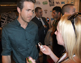 Photo: Interviewing Ryan Reynolds on the red carpet at the premier of BURIED at Fantastic Fest in 2010...