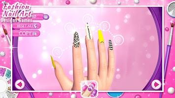 screenshot of Fashion Nail Art Designs Game