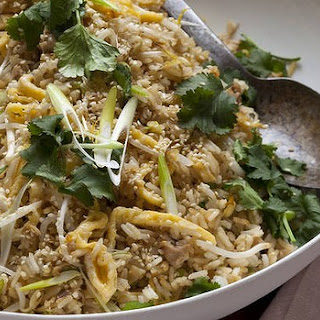 Fried Rice With Chicken, Ginger And Egg.