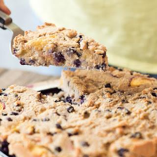 Gluten-free Peach & Wild Blueberry Cake