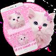 Cute Pink Kitty Keyboard apk