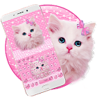 Cute Pink Kitty Keyboard icon