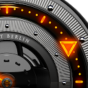 FIRE Laser Analog Clock Widget