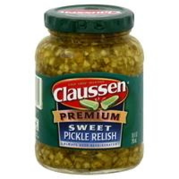 Preferably Claussen cold packed sweet relish ---- one of the best pickle brands around!