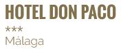 Hotel Don Paco Málaga *** | Web Oficial | Mejor Precio Online