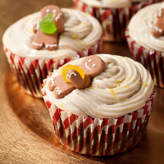 Gingerbread Cupcakes With Ginger-lemon Frosting.