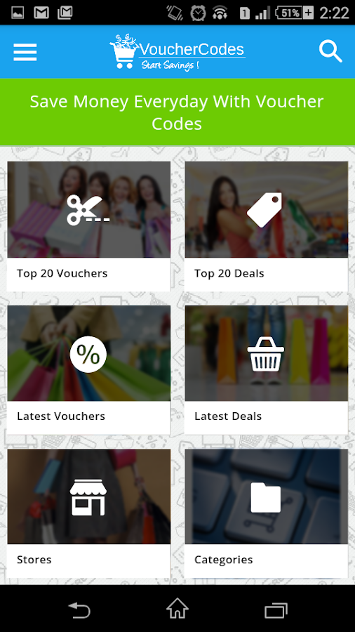 VoucherCodes- screenshot
