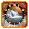 Waterfall Clock Live Wallpaper icon