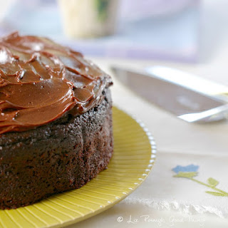 Chocolate Beetroot Cake With Sour Cream Chocolate Frosting.