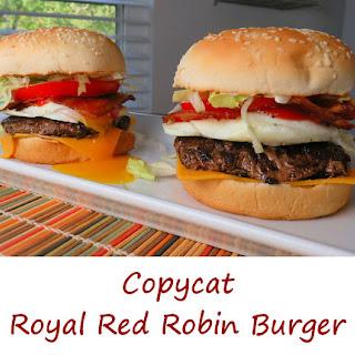 Copycat Royal Red Robin Burger.