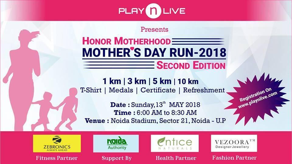 fitness events delhi mothers day marathon