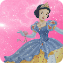 Princess Pixel Art Sandbox Color By Number Drawing icon