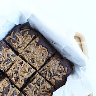 Vegan Gluten free Caramel Brownies.