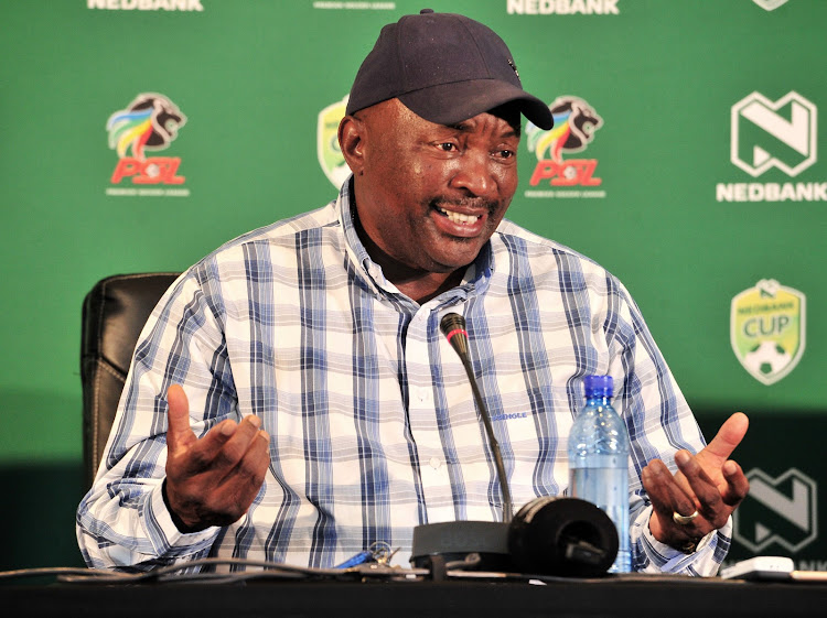 Jomo Sono, coach of Jomo Cosmos during the 2019 Nedbank Cup Jomo Cosmos press conference at PSL Offices, Johannesburg on 23 January 2019.