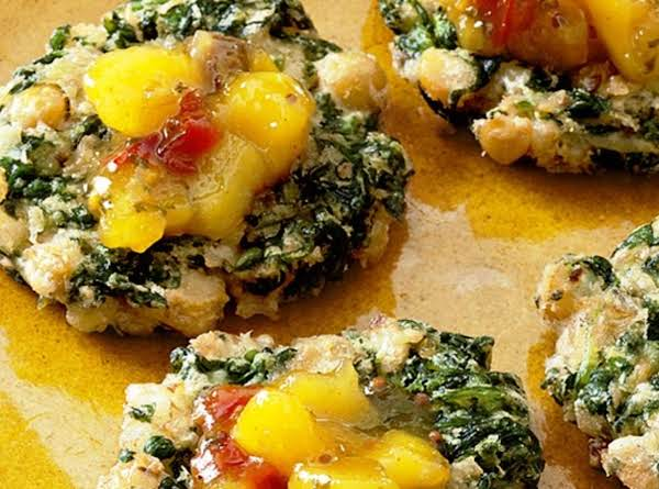 Spinach And Chickpea Fritters Recipe