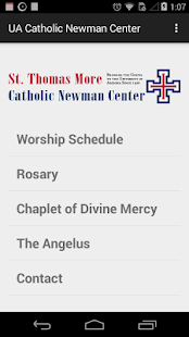 UA Catholic Newman Center- screenshot thumbnail