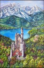 Photo: Элеонора Обухова, Замок Нойшванштайн. Бавария, 150х100см