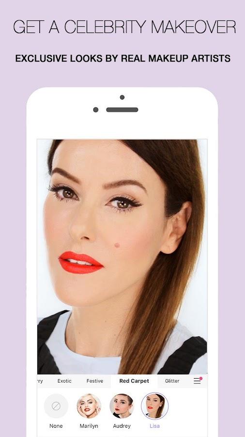 Screenshots of MakeupPlus - Makeup Editor for iPhone