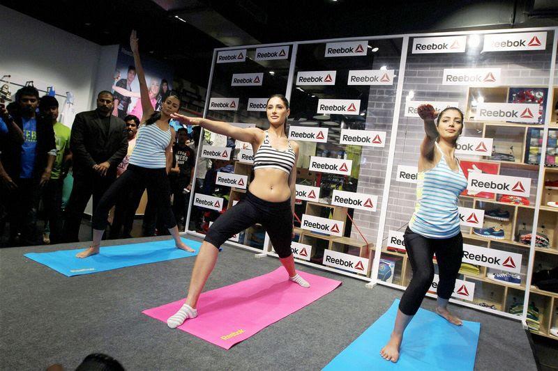 Nargis Fakhri fitness event