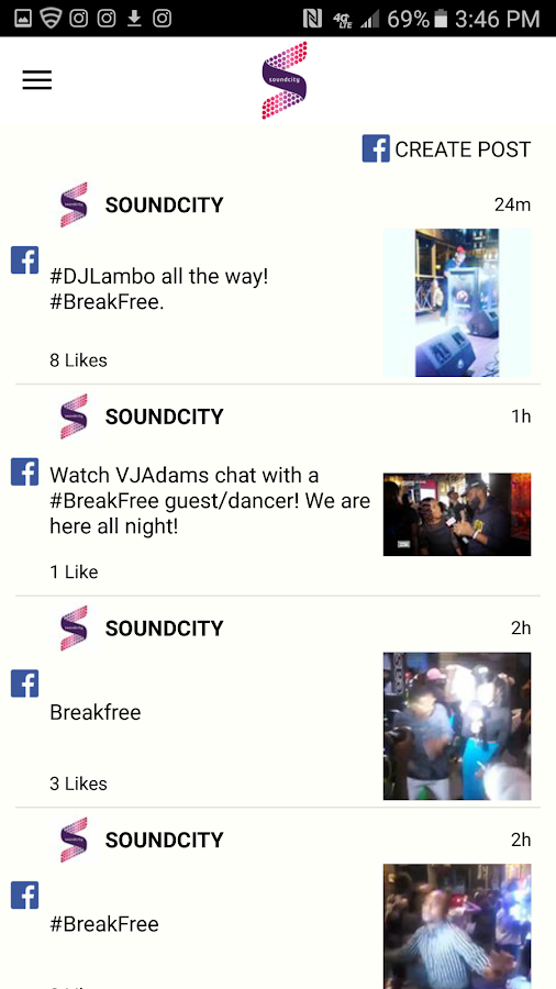 Soundcity TV and Radio App- screenshot