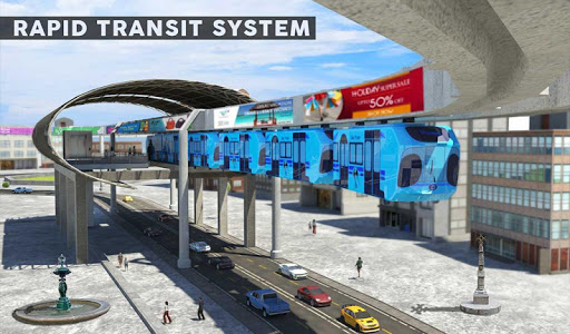 Elevated Train Driving Simulator: Sky Tram Driver apktram screenshots 16