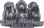 Logo for Three Monkeys Bar and Grill
