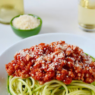 Zucchini Noodles with Turkey Bolognese