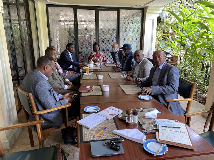 Mt Kenya leaders meeting at an undisclosed location on Monday, September 13, 2021.