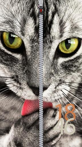 猫ジッパーロック画面