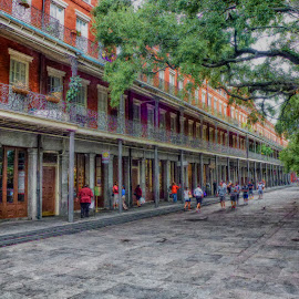 Jackson Square by Dave Walters - Digital Art Places ( new orleans, h d r, french quarter, jackson square, street scenes,  )