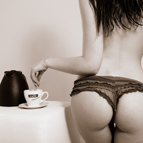 Café by Jens Fischer - Nudes & Boudoir Boudoir ( girl, coffee, ass,  )
