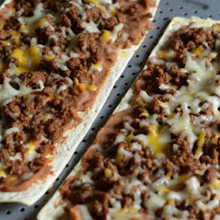 A Flatout Mexican Pizza.