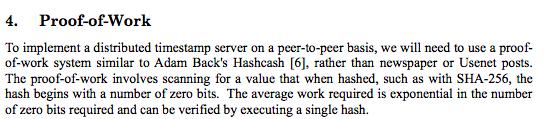 Упоминание Адама Бэка и Hashcash в white paper Bitcoin.
