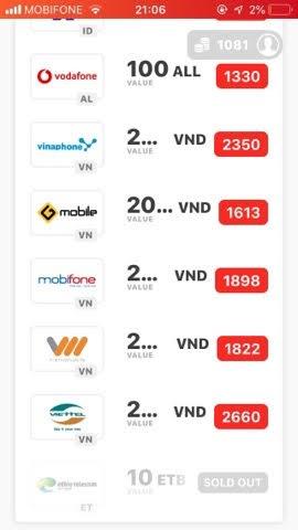 Cách kiếm Card điện thoại miễn phí không giới hạn từ App Dent