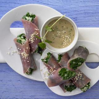 Prosciutto and Spinach Rolls