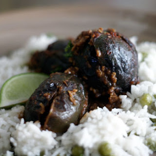 Indian Spice Stuffed Baby Eggplant