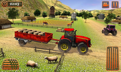 Farm Tractor Cargo Driving Simulator 20 1.5 screenshots 3