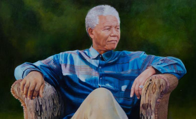 Meditative Madiba shown in newly revealed portrait of Nelson Mandela
