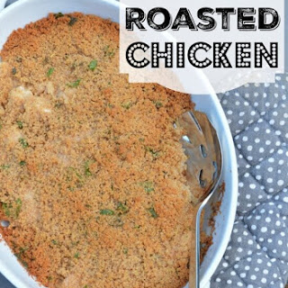 Buttery Roasted Chicken with Breadcrumbs and Herbs