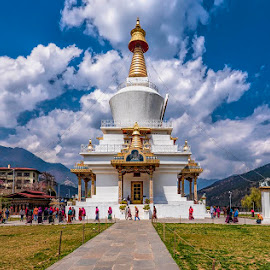 Chorten by Pravine Chester - Buildings & Architecture Places of Worship ( thimpu, bhutan, memorial, building, architecture )