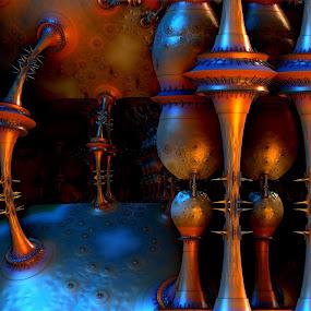 Steampunkin by Ricky Jarnagin - Illustration Abstract & Patterns ( abstract, ricky jarnagin, mandelbulb, dsynegrafix, 3d art, fractal )