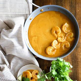 Easy Shrimp in Curry Cream Sauce.